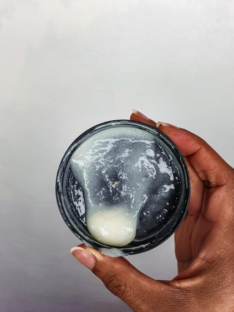 texture du masque hydratant de la marque black owned AFROANI