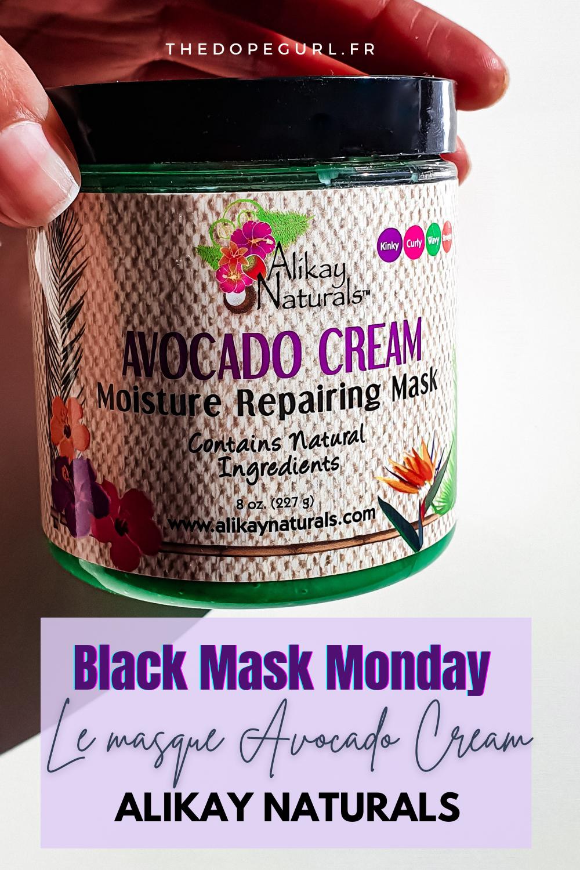 le masque avocado cream moisture repairing mask alikay naturals