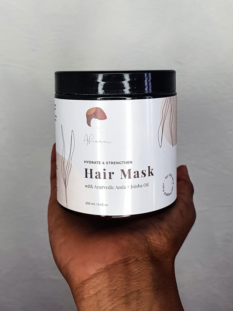 masque capillaire hydratant de la marque anglaie et naturel AFROANI